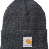 acrylic watch hat | coal heather | knitted beanie
