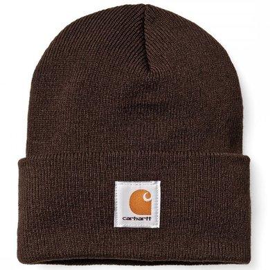 Carhartt acrylic watch hat | dark brown | knitted beanie