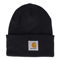 acrylic watch hat | black | knitted beanie