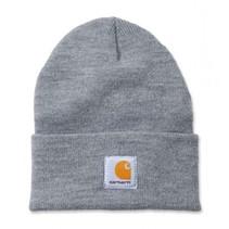 acrylic watch hat | heather grey | knitted beanie