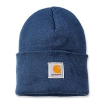 acrylic watch hat | dark blue | knitted beanie