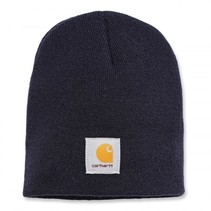 acrylic knit hat | navy | knitted beanie