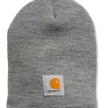 acrylic knit hat | heather grey | knitted beanie