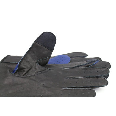 Gladiator racing leather car gloves space blue