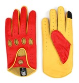 Gladiator racing leather car gloves scarlett red