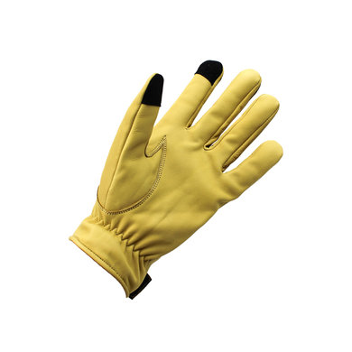 Gladiator driver leather car gloves old yellow