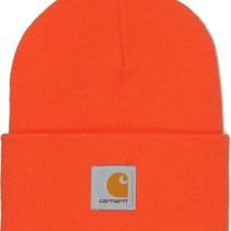 acrylic watch hat | bright orange | knitted beanie