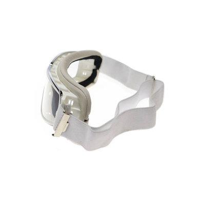Aviator Goggle retro pilot T2 optical chrome wit leren motorbril