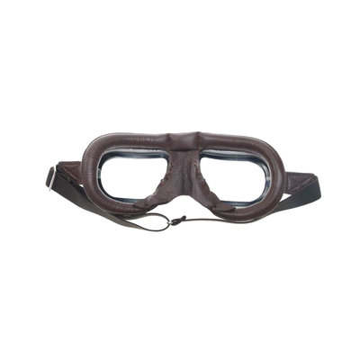 Halcyon mark 7 retro motor goggle brown leather