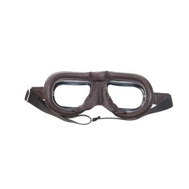 Halcyon mark 7 retro motorbril bruin leer