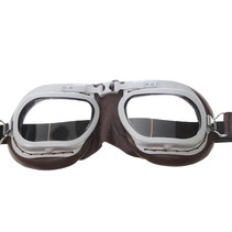mark 7 retro motorbril bruin leer
