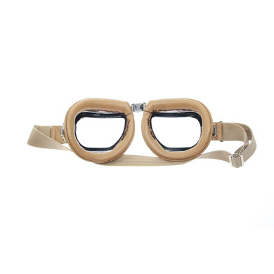 Halcyon mark 46 creme motor goggle clear class