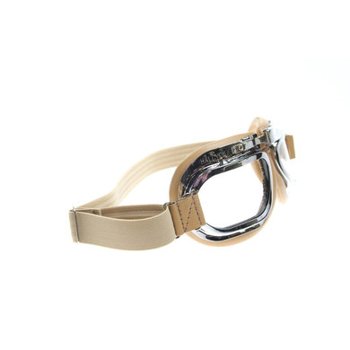 Halcyon mark 46 creme motor goggle clear class