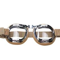 mark 46 creme motorbril helder glas