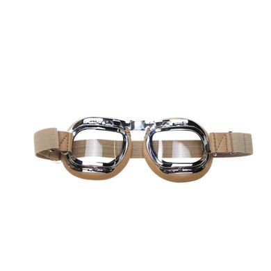 Halcyon mark 46 creme motorbril helder glas
