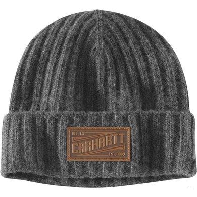 Carhartt seaford beanie | heather grey - grijs | lamswollen muts