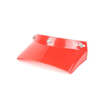 Square helm zonneklep rood
