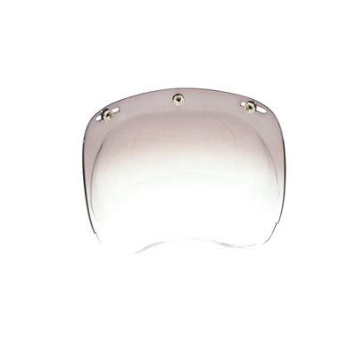 Bubble visor gradient smoke
