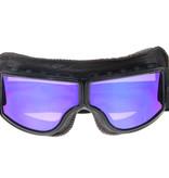 CRG black, dark brown leather cruiser motor goggles