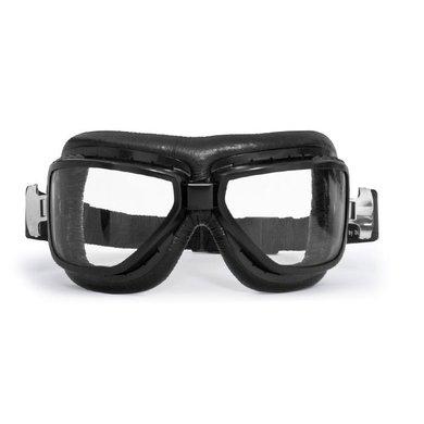 Bertoni antifog AF194A black leather motor goggles