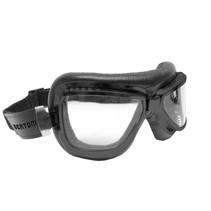 antifog AF194A zwart leren motorbril