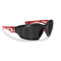 polarized P1000B motorbril rood - smoke glas