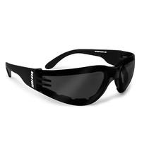 antifog AF150C zwarte motorbril smoke glas