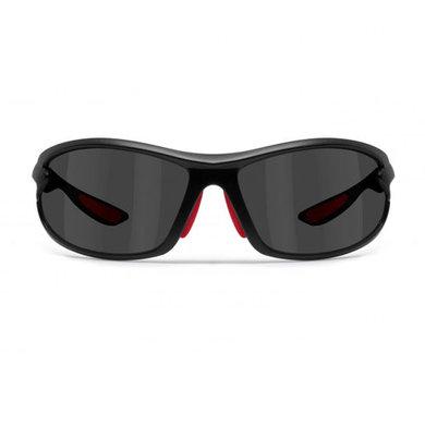 Bertoni polarized P676C motor goggle black with red - smoke lenses