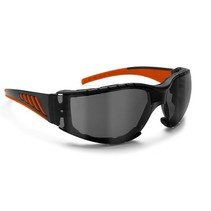 antifog AF149HD1 motor goggle black-orange with smoke lenses