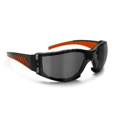 Bertoni antifog AF149HD1 motorbril zwart-oranje met smoke glas