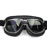 CRG classic, chrome-black motor goggle