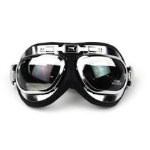 Racer chrome motorbril helder glas
