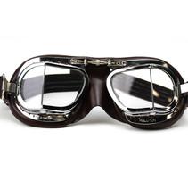 mark 9 compact deluxe motorbril bruin