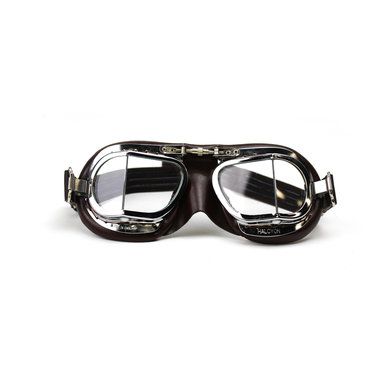 Halcyon mark 9 compact deluxe motor goggles brown