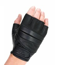 bobber fingerless motor gloves black
