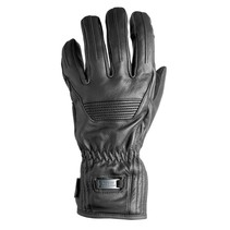 montreal leather motor gloves | black