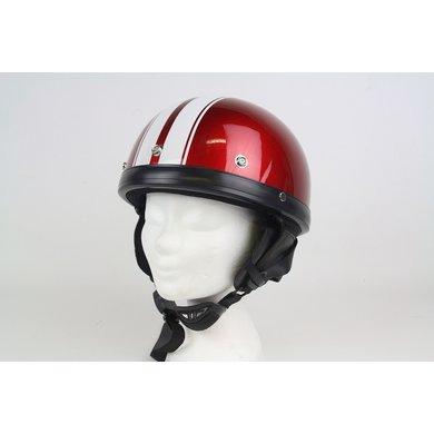 Moto red-white half helmet | size L | outlet