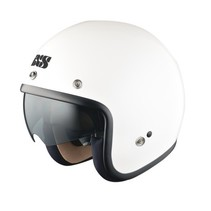 HX 77 jet helmet with visor | white