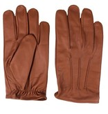 Swift classic unlined nappa brown leather gloves