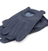 Swift retro racing leren handschoenen blauw