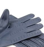 Swift retro racing leather gloves blue