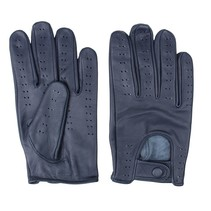 retro racing leather gloves blue