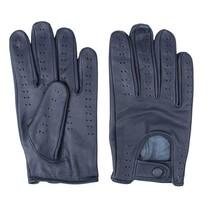 retro racing leren handschoenen blauw