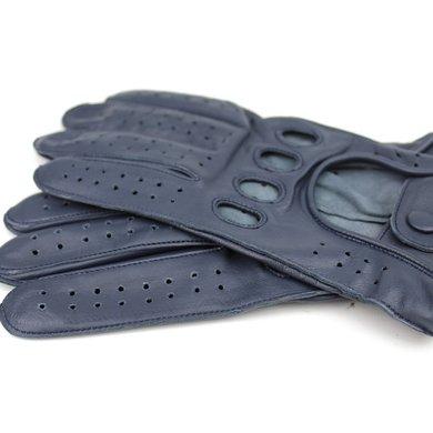 Swift racing leren handschoenen blauw
