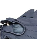 Swift driver fingerless leather driving gloves blue