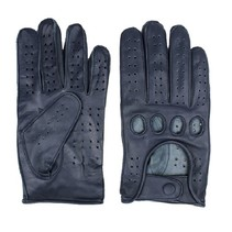 racing leather gloves dark blue