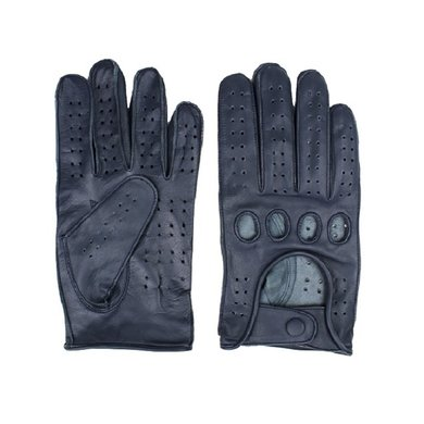 Swift racing leather gloves dark blue