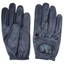 driver leather gloves blue