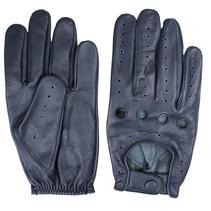 driver leren handschoenen blauw