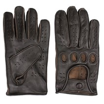 racing leather gloves dark brown